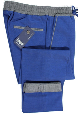 Equipage – Dark Blue Knit Cotton Pants w/Drawstring - PEURIST