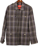 Isaia - Brown Plaid Cotton Field Jacket - PEURIST