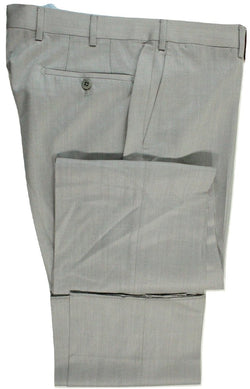 Vigano – Light Gray Wool Twill Pants in Loro Piana - PEURIST
