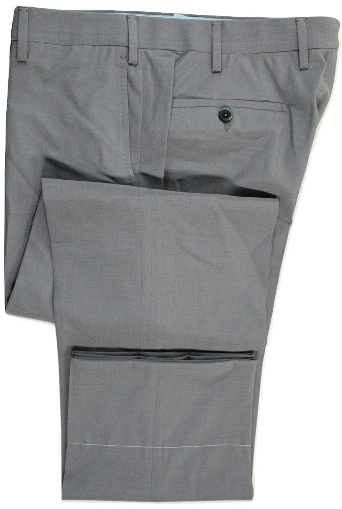 Vigano – Mid-Gray High-Twist Wool Pants - PEURIST