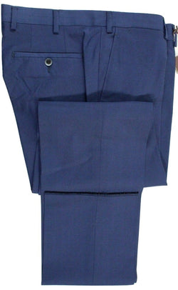 Vigano – Blue High Twist Wool Pants - PEURIST