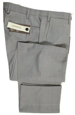 Vigano – Blue-Gray Lightweight Wool Pants - PEURIST