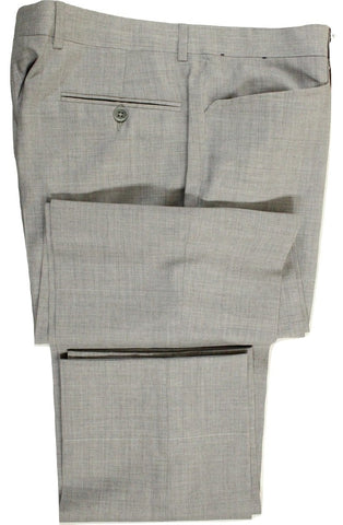 Vigano – Light Gray Lightweight Wool Pants w/Frog Pockets - PEURIST