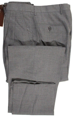 Vigano – Charcoal High-Rise Wool Pants w/Pleat - PEURIST