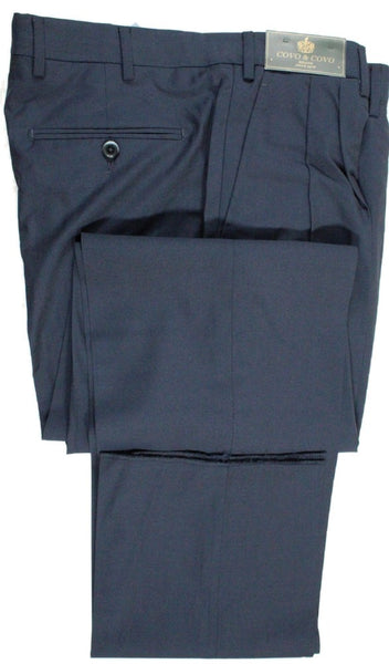 Covo by Vigano – Navy Lightweight Wool Pants w/Pleat