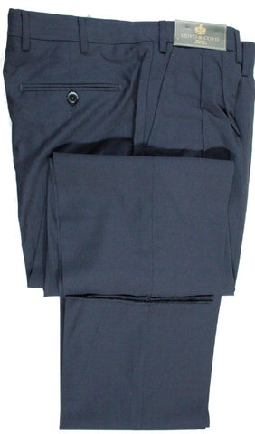 Covo by Vigano – Navy Lightweight Wool Pants w/Pleat - PEURIST