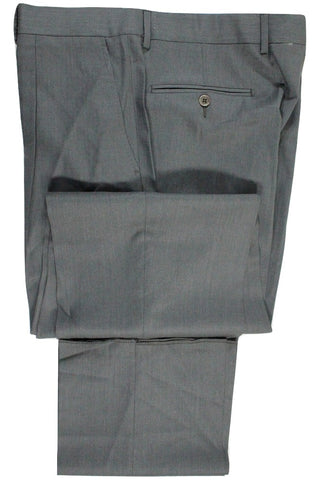 Vigano – Dark Gray Lightweight Wool Pants w/Pleat - PEURIST