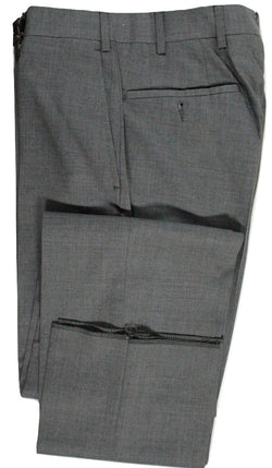 Albert Arts by Vigano – Gray Four Season Wool Pants - PEURIST