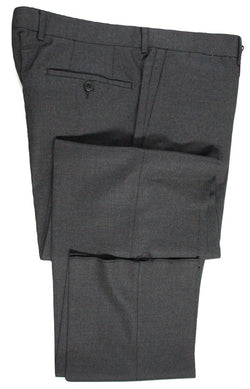 Vigano – Dark Charcoal Hopsack Wool Pants - PEURIST