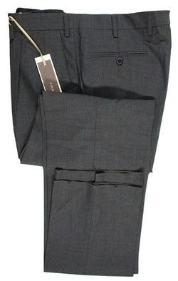 Vigano – Charcoal Four Season Wool Pants w/Pleat - PEURIST
