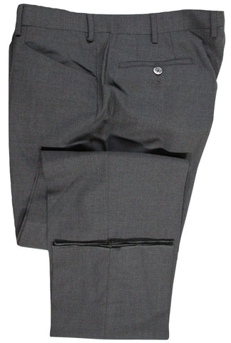 Vigano – Charcoal Four Season Wool Pants w/Frog Pockets - PEURIST
