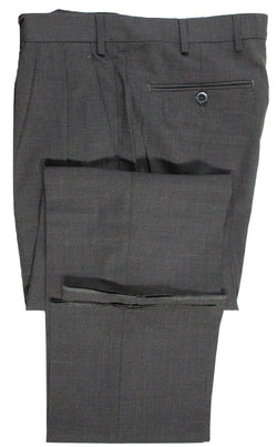 Vigano – Charcoal Lightweight Wool Pants w/Pleats - PEURIST
