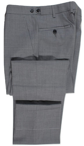 Vigano – Gray Four Season Wool Pants w/Side Adjusters - PEURIST