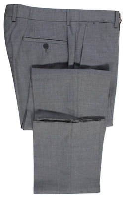 Vigano – Gray Lightweight Wool Pants w/Button Fly - PEURIST