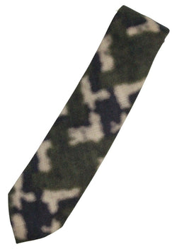 Isaia – Green & Navy Camo Screen-Printed Wool Tie - PEURIST