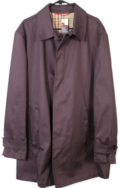 Isaia – Plum Cotton Raincoat - PEURIST