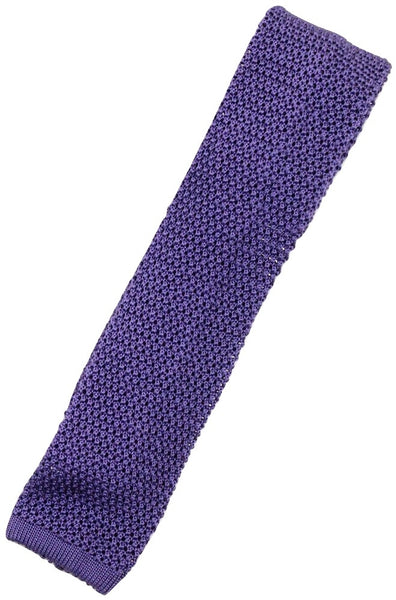 Charvet – Purple Silk Knit Tie - PEURIST
