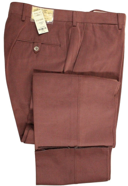 Paul Stuart – Light Burgundy Cotton Moleskin Pants - PEURIST