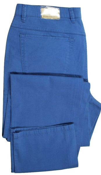 Paul Stuart – Blue Cotton Five-Pocket Pants - PEURIST