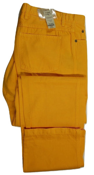 Paul Stuart – Yellow Ochre Cotton/Linen Five Pocket Pants - PEURIST