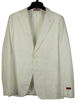 Isaia – White Cotton Twill Suit