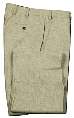 Vigano – Light Brown Wool Flannel Pants