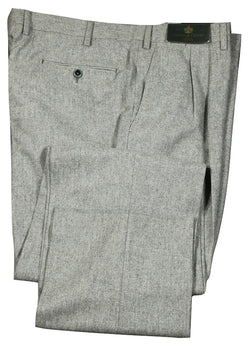 Covo by Vigano – Light Gray Wool Flannel Pants w/Dual Pleat