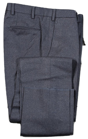 Vigano – Dark Navy Wool Flannel Pants
