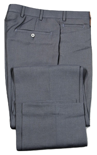 Vigano – Navy Wool/Linen Pants w/Frog Pockets