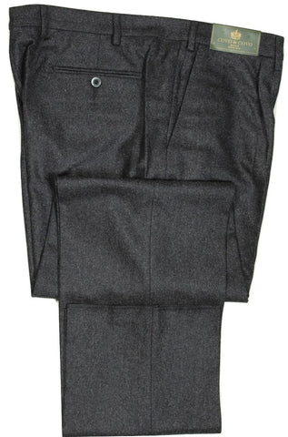 Covo by Vigano – Dark Gray Wool Flannel Pants w/Pleat
