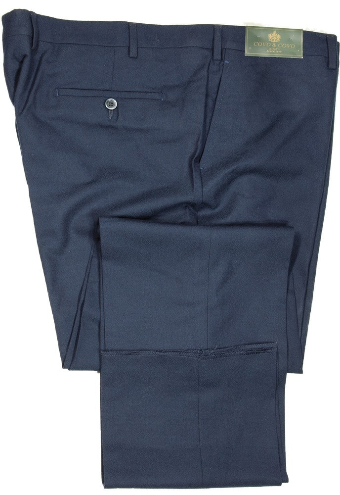 Covo by Vigano – Navy Wool Flannel Pants