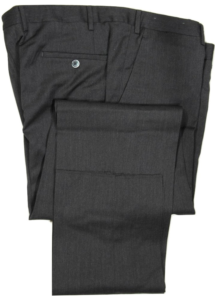 Covo by Vigano – Dark Charcoal Mid-Weight Wool Pants