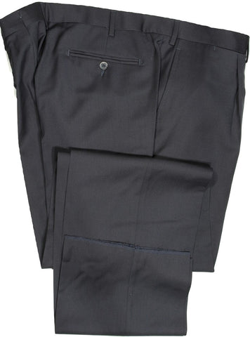 Vigano – Dark Navy Four Season Wool Pants w/Pleat