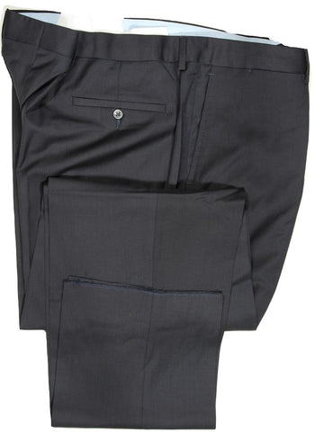 Vigano – Dark Navy Four Season Wool Pants, Super 120's