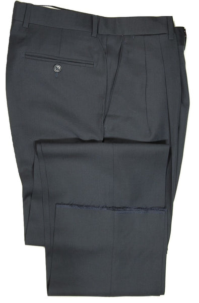 Vigano – Dark Navy Four Season Wool Pants w/Dual Pleat