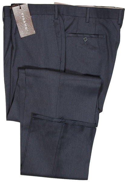 Vigano – Navy Wool Twill Pants, Super 120s