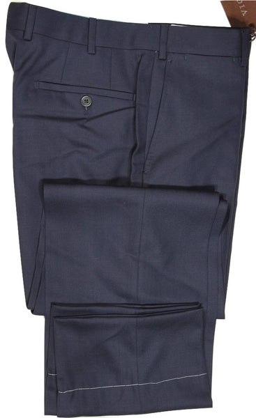 Vigano – Navy Hopsack Wool Pants