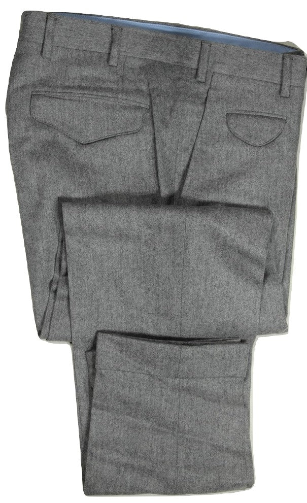 Vigano – Light Gray Wool Flannel Pants
