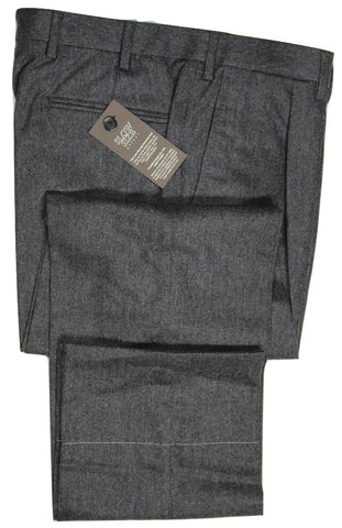 Vigano – Dark Gray Wool/Cashmere Flannel Pants w/Pleat