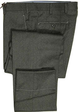 Vigano – Loden Green Wool Flannel Pants