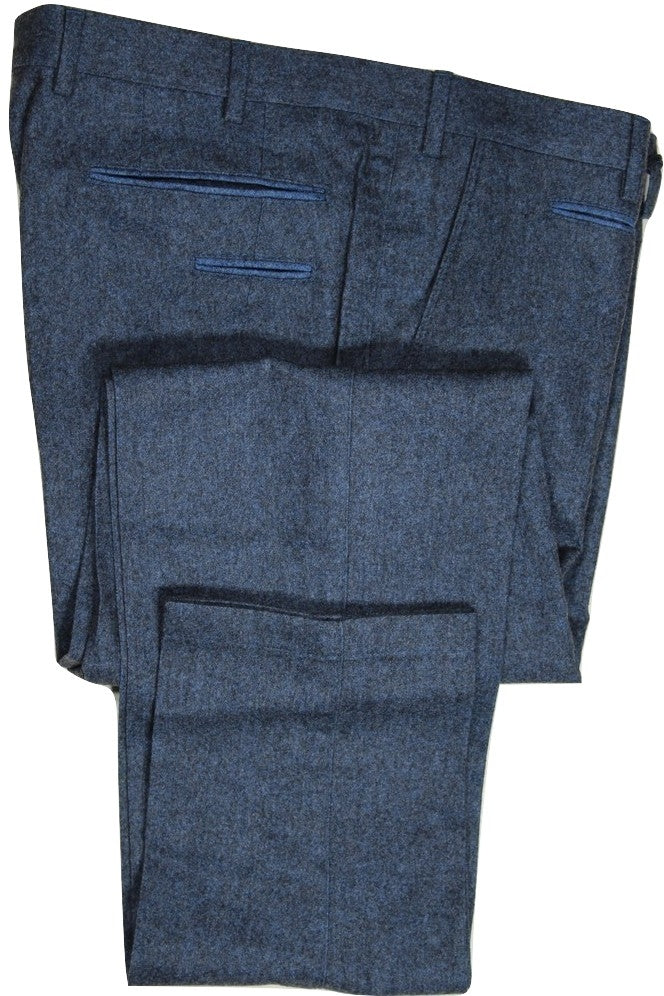 Vigano – Blue Wool/Cotton Flannel Pants