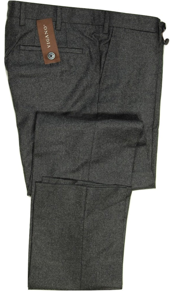 Vigano – Charcoal Wool Flannel Pants