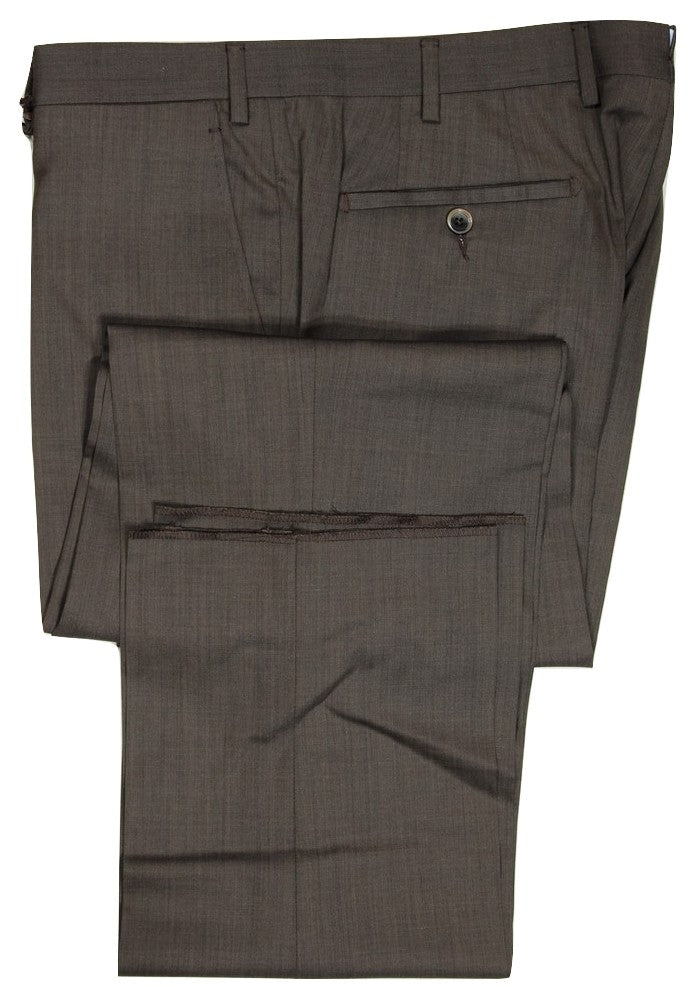 Vigano – Brown Hopsack Wool Pants