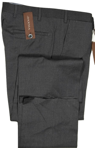 Vigano – Charcoal Wool Pants, Super 130's