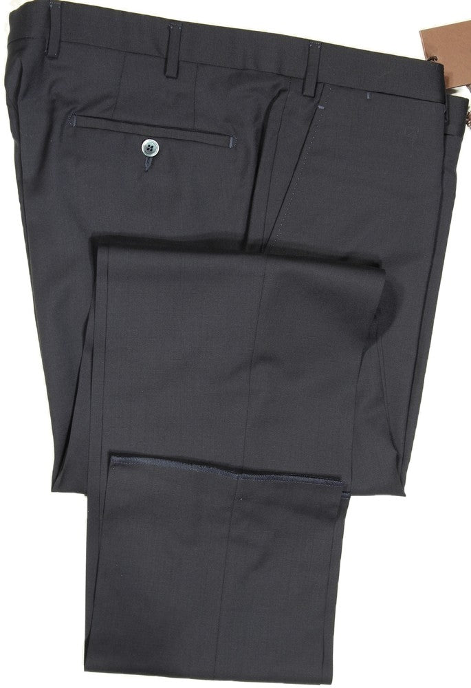 Vigano – Navy Wool Hopsack Pants
