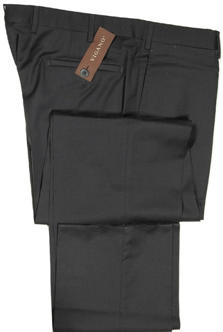 Vigano – Black Wool Pants, Super 130's