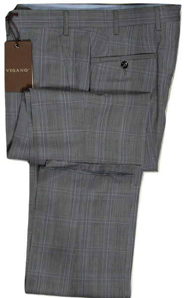 Vigano – Black & Purple Prince of Wales Check Pant