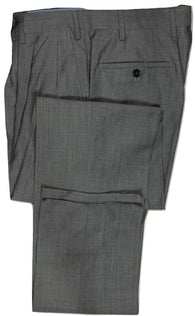 Vigano – Gray/Black Hopsack Wool Pants