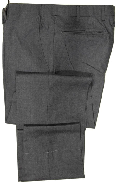 Vigano – Mid-Gray Hopsack Wool Pants