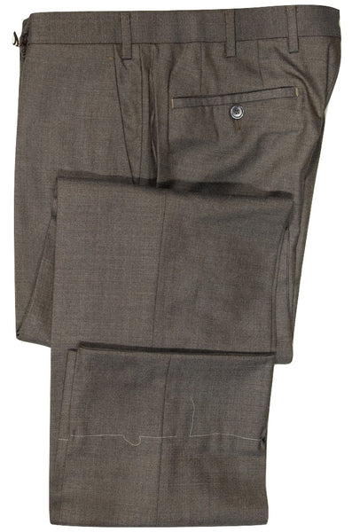 Vigano – Brown Wool/Silk Mid-Weight Wool Pants